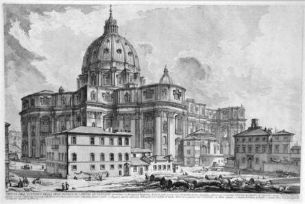 Giovanni Battista Piranesi, 'Veduta dell'esterno della gran Basilica di S. Pietro in Vaticano (View of the Exterior of St. Peter's Basilica in the Vatican)', 1748