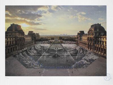 JR, 'Au Louvre, 29 Mars 2019, Paris, France (18h08)', 2019