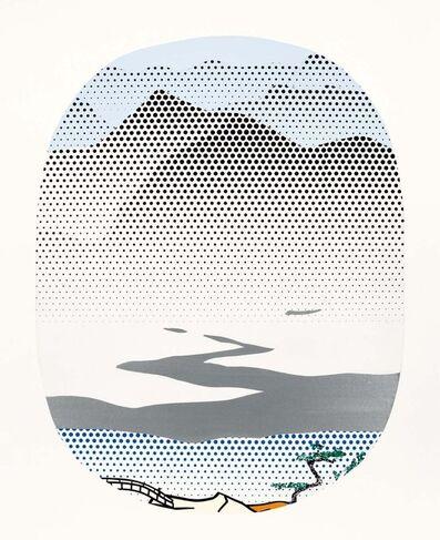 Roy Lichtenstein, 'Landscape with Silver River (study)', 1996