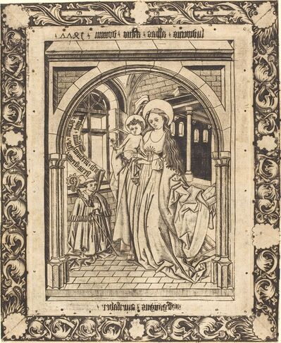 Wolfgang The Goldsmith after Master E.S., 'The Madonna and Child with the Abbot Ludwig von Churchwalden', 1477