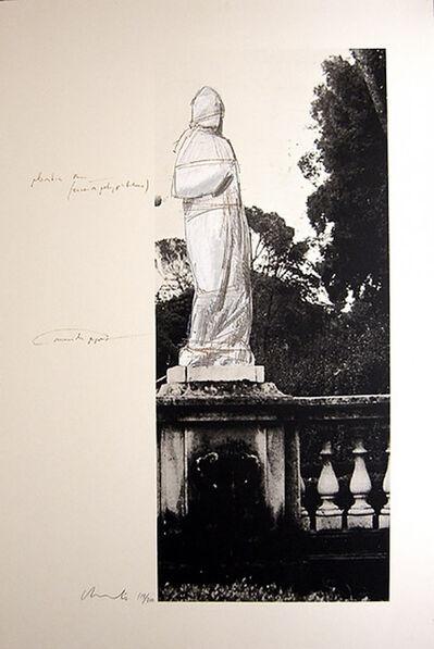 Christo, 'Schweiz Verpackte Venus-Villa Borghese', 1974