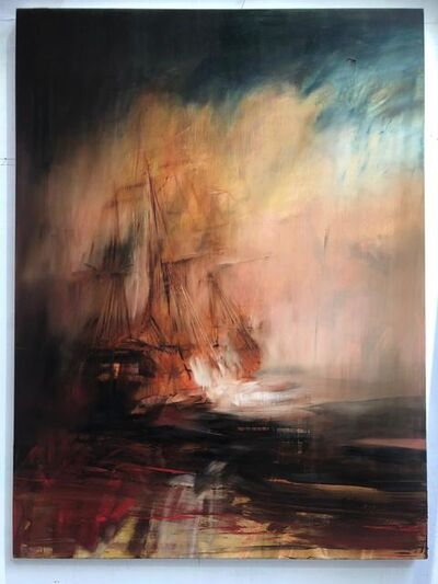 Jake Wood-Evans, 'Vessel at Sea with Evening Sky', 2019