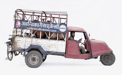 Martin Roemers, 'Bajaj Tempo #7; Gas Cylinder courier Sham Rathod (Ujjain, Madhya Pradesh)', 2019