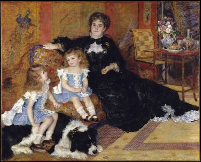 Pierre-Auguste Renoir, 'Madame Georges Charpentier (Marguérite-Louise Lemonnier, 1848–1904) and Her Children, Georgette-Berthe (1872–1945) and Paul-Émile-Charles (1875–1895)', 1878