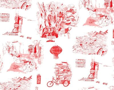 Elisabeth Condon, 'Notes from Shanghai wallpaper', 2014