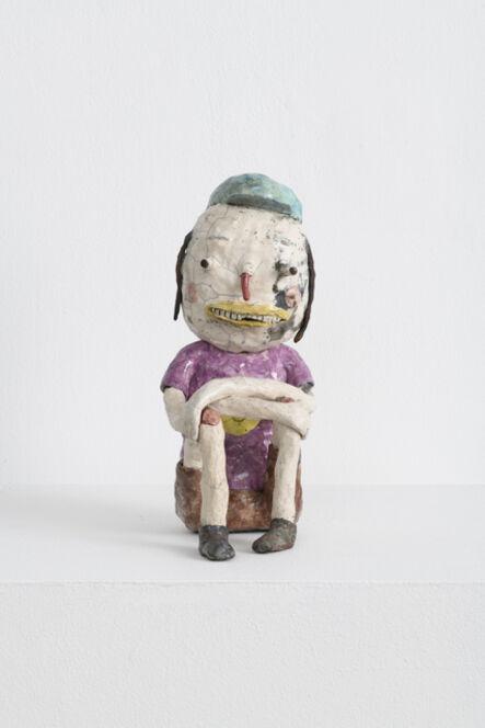 Joakim Ojanen, 'White Raku Figure with Favorite Shirt', 2018