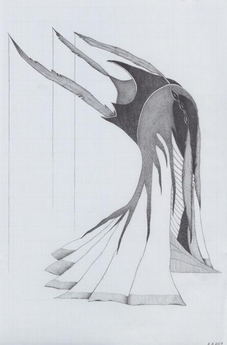 Afruz Amighi, 'Headdress for the Beheaded (drawing)', 2017