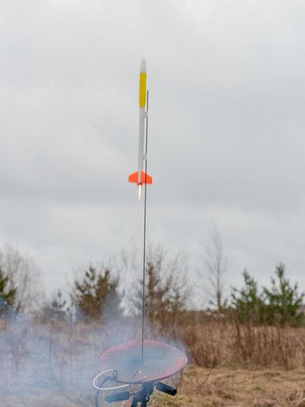 Axel Straschnoy, 'Kolme Perunaa Space XXIV. (Flown rocket + Flying rocket photograph + Flight Certificate)', 2019