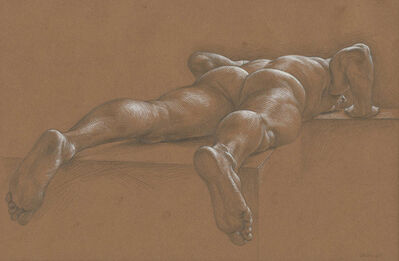 Paul Cadmus, 'Nude Male Reclining Face Down (TS3)'