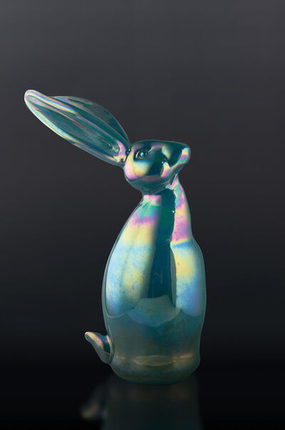 Hunt Slonem, 'Dark Turquoise Bunny', 2020