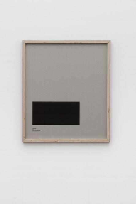 E.B. Itso, 'Loop Holes (Yoshie Shiratori, 1944, Abashiri Prison, Hokkaido, Japan, hole measures 34 x 17 cm) ', 2016