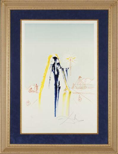 "Salvador Dalí, '""Invisible Face"" Hand Signed Salvador Dali Lithograph', 1941-1957"