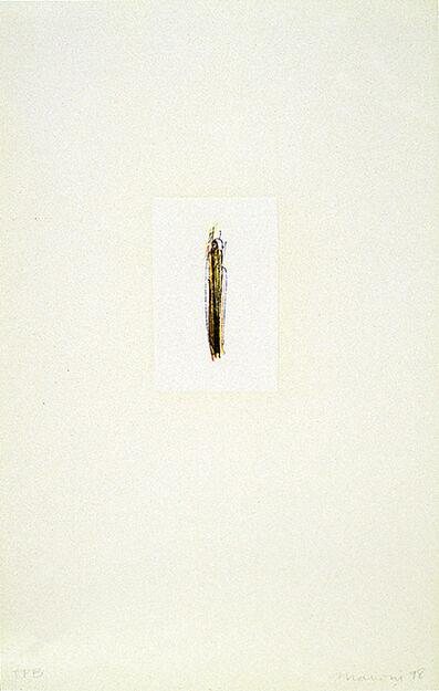 Tom Marioni, 'Finger Lines (Yellow)', 1998