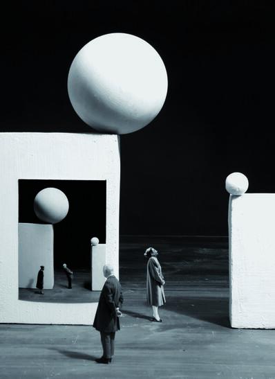 Gilbert Garcin, '394 The danger of images', 2009