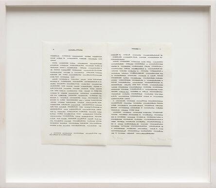 Irma Blank, 'Trascrizioni, In due', 1975