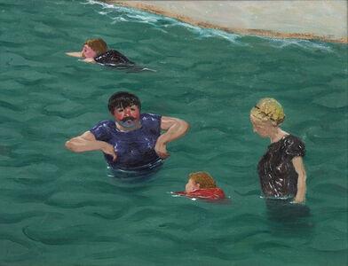 Félix Vallotton, 'Quatre baigneurs à Étretat', 1899
