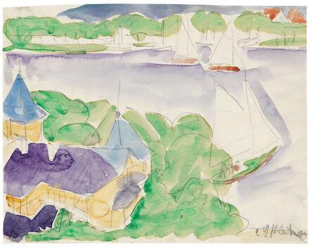 Ernst Ludwig Kirchner, 'Müggelsee (Segelboote)', ca. 1910