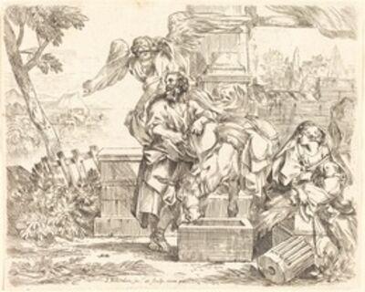 Sébastien Bourdon, 'Saint Joseph Listening to the Angel's Counsel'