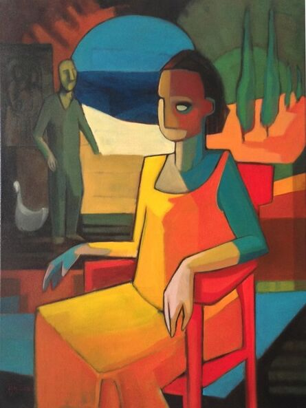 Sandro Nocentini, 'Woman on red chair ', 2014