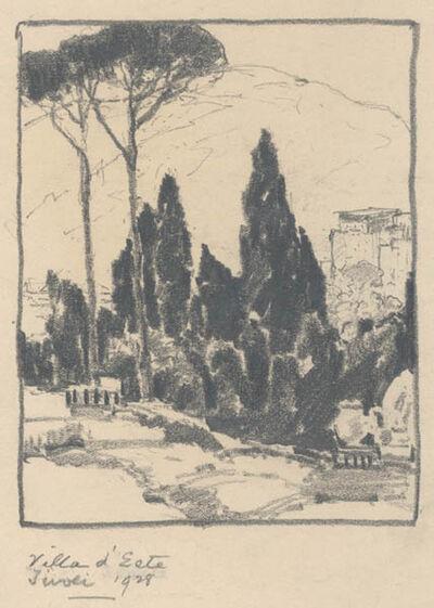 Chauncey Ryder, 'Villa d'Este, Tivoli [Italy]', 1928