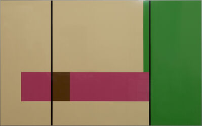Gerwald Rockenschaub, 'colour foils on lacquered alucore, anodized aluminum frame, 150 x 250 cm', 2006