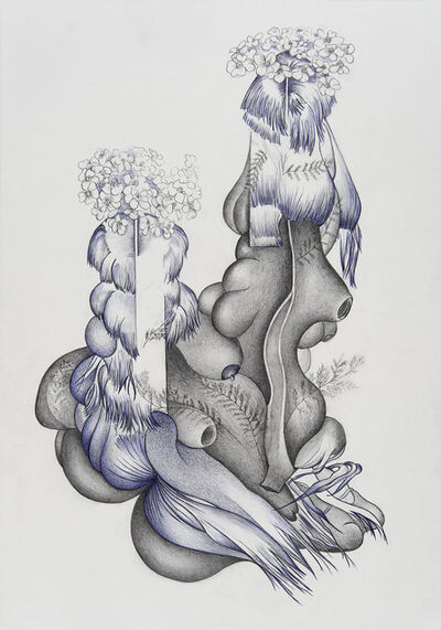 Marlene McCarty, 'WEED: Modern Master Chakras Open (Achillea millefolium)', 2020