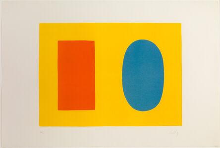 Ellsworth Kelly, 'Orange And Blue Over Yellow', 1964-1965
