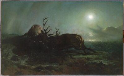Edwin Landseer, 'Night (Two Stags Battling by Moonlight)', ca. 1853