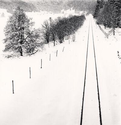 Michael Kenna, 'Railway Lines in Snow, Quarto Santa Chiara, Palena, Abruzzo, Italy ', 2016