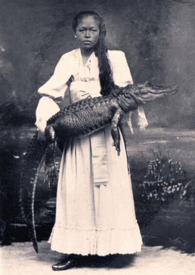 Agan Harahap, 'Lady with Crocodile (Mardijker Photo Studio)', 2017