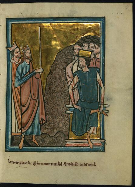 William de Brailes, 'The Third Plague of Egypt: Gnats (Exodus 8:17)', ca. 1250