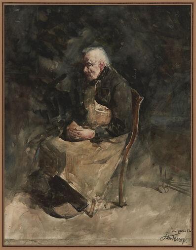 Jan Toorop, 'Le Pauvre (Study for l'Intérieur a Haeren)', 1883