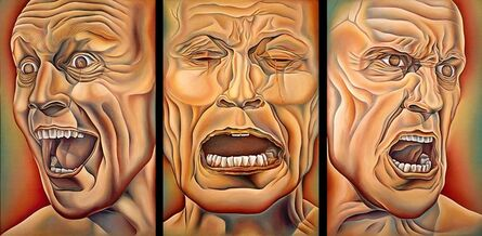 Judy Chicago, 'Three Faces of Man, from PowerPlay', 1985