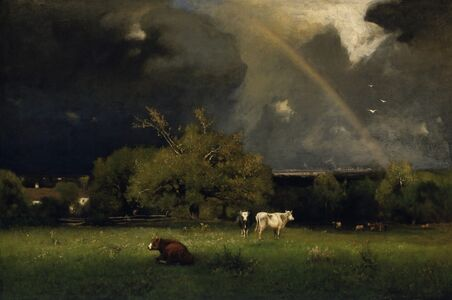 George Inness, 'The Rainbow', ca. 1878-1879