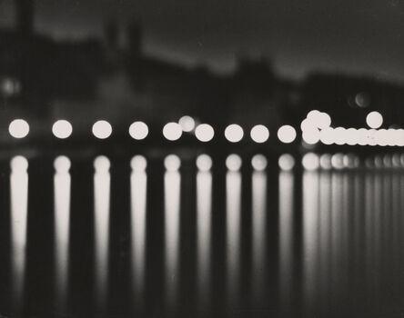 Andreas Feininger, 'Stockholm (at night with circular lights)', 1937