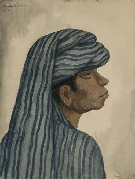 Diego Rivera, 'Profile of a Man', 1936