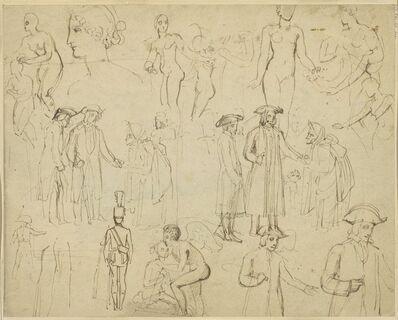 Thomas Stothard, 'Figure Studies [verso]'