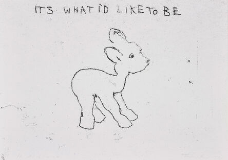 Tracey Emin, 'It's What I'd Like to Be, from 10 Supastore Supastars', 1998