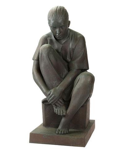 Felipe Castaneda, 'Untitled (Woman Sitting)', 1990