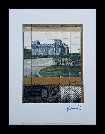 Christo, 'Project for Berlin: Wrapped Reichstag', 1994