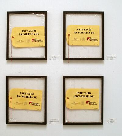 Felipe Ehrenberg, 'Este vacío es cortesía de la Secretaria de Comunicaciones y Transportes', 2013