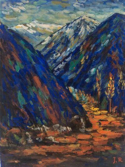 Jamini Roy, 'Mountain Peaks', 1910-1920