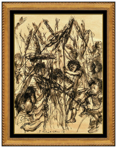 Pavel Tchelitchew, 'Boys Fighting in Wheat Field', 1939