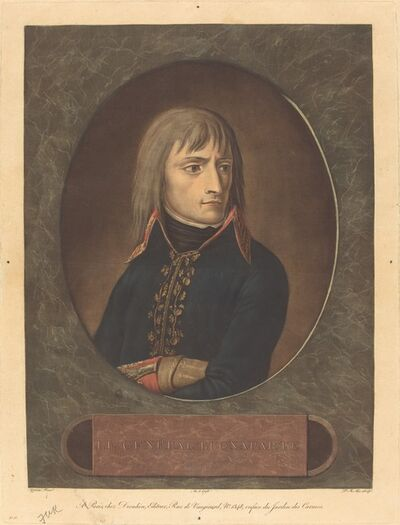Pierre-Michel Alix after Andrea Appiani I, 'Napoleon as General of the Italian Army', 1798