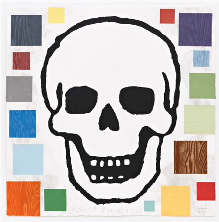 Donald Baechler, 'Abstract Composition with Skull', 2009