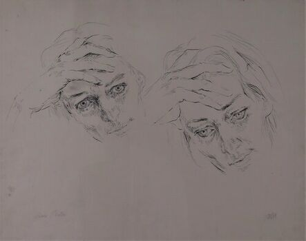 Barbara Swan, 'Anne Sexton, Double Portrait', 1974