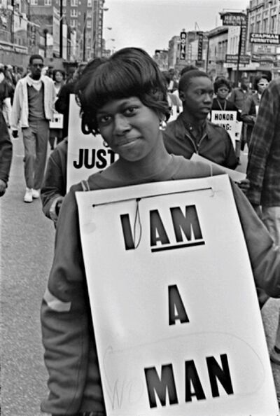 Builder Levy, 'I AM A (WO)MAN, Martin Luther King Memorial March for Union Justice and to End Racism, Memphis, TN', 1968