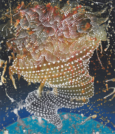Barbara Takenaga, 'Twister on Blue World', 2016