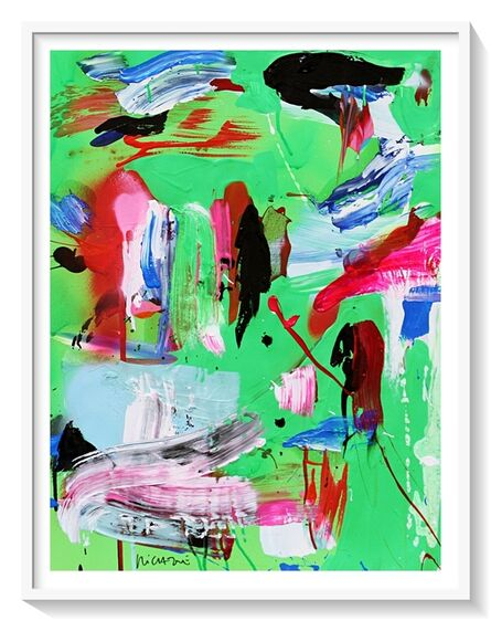 "Santiago Picatoste, '""Limbo green fluo""', 2020"