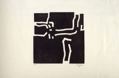 Eduardo Chillida, 'Beltza I', 1969